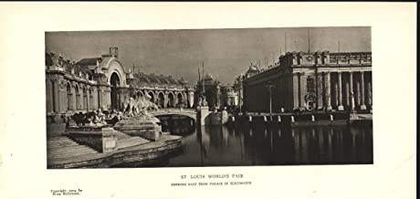 St Louis World Fair From Palace of Electricity 1904 antique photo print