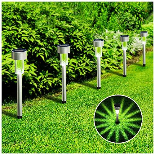 KOOPER Solar Lights Outdoor, 12Pack Solar Pathway Lights Outdoor, Waterproof LED Landscape Garden Lights Solar Powered, Outdoor Lights Solar Garden Lights for Pathway, Walkway, Patio, Yard