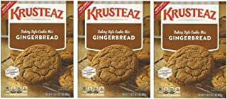 Krusteaz, Bakery Style, Gingerbread Cookie or Cake Mix, 17.5oz Box (Pack of 3)