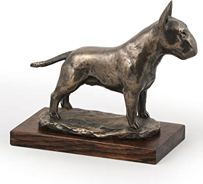 CA ArtDog dog bust//statue on wooden base American Staffordshire Terrier