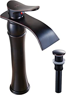 BWE Waterfall Single lever Commercial Bathroom Sink Vessel Faucet Basin Mixer Tap Oil Rubbed Bronze