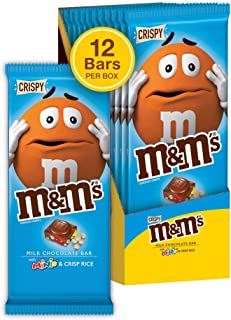 M&M'S Minis & Crispy Rice Chocolate Candy Bar, 4 Ounce (Pack of 12)