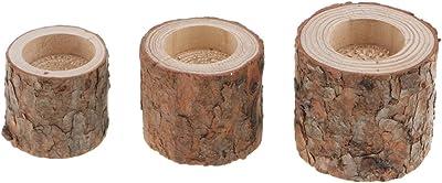 Mini Succulent Plants Flower Pot 10pcs//Set Handcraft Tree Branch Wooden Candle Holder Environmental Stump Tealight Holder