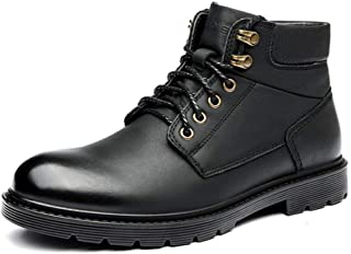 Dr. Martin Unisex Boots Leather versatile short boots mid-top thick bottom boots thick bottom round head ankle boots high-top wear-resistant boots simple non-slip ankle boots