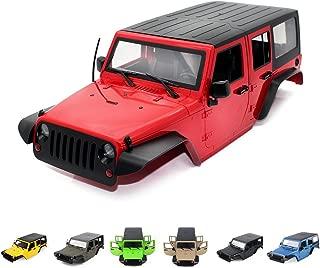 INJORA Jeep Wrangler Rubicon Body/Shell for Traxxas TRX4 82046-4 Kit Axial SCX10 II 90046 90047,12.3inch/313mm Wheelbase,Hard Plastic