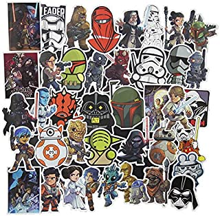 100 Pcs Star Wars Sticker Pack,Cool Stickers Notebook Guitar Skateboard Travel Water Bottle Stickers Waterproof