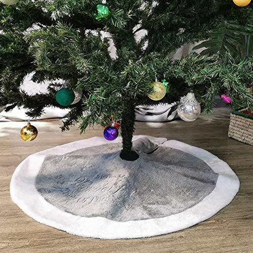 NIKKY HOME Luxus Weihnachtsbaum Rock Feiertagsverzierungen mit Weißem Rand 90CM