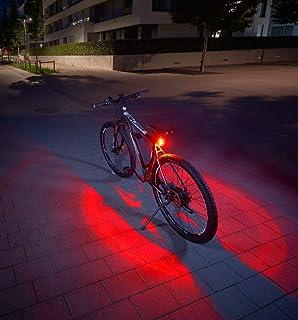 Fischer Twin Fietsachterlicht met 360 graden verlichting van de grond voor meer zichtbaarheid en bescherming, oplaadbare accu
