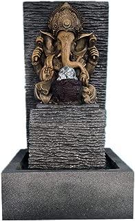EFK-II Supply Elephant God Ganesha Lucky Water Fountain Ornaments Feng Shui Craft Indoor Fountain