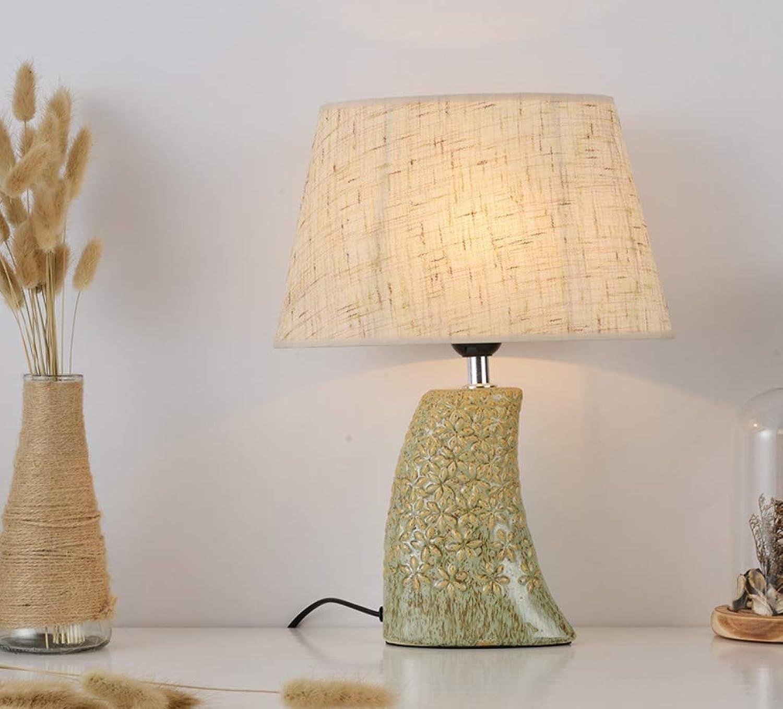WUTONGNordische einfache moderne keramische Tischlampe amerikanische Dekoration Wohnzimmer Studie warme LED Licht warmes Licht Schlafzimmer Nachttischlampe B07JJT1Z7K | Deutschland Shop