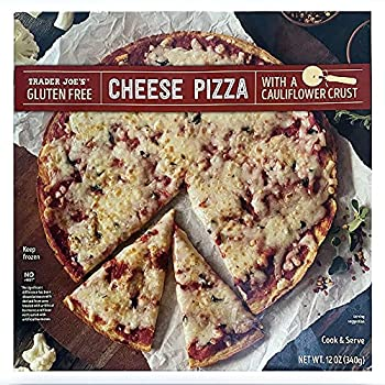 Trader Joe s Gluten-Free Pizza with Cauliflower Crust  Pack of 8  - Thin Crust Frozen Pizza - With Tomato Sauce and Blend of Provolone and Mozzarella Cheeses