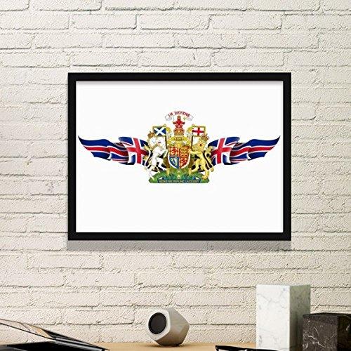 DIYthinker Het Verenigd Koninkrijk Vlag Nationaal Embleem Eenvoudige fotolijst Art Prints Schilderijen Thuis Muursticker Gift