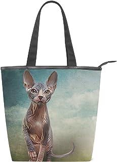 alaza Tote Canvas Schultertasche Sphynx Kätzchen-Katzen-Handtasche