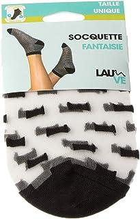Lauve, Calcetines Medias Cortas - 1 par - Fantasia - talón Reforzados - Invisible - Satinado - Punta Reforzada - Polyamide