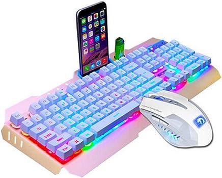 Ba Zha Hei de LED retroiluminado USB Ergonomic Gaming Keyboard+Gamer Mouse Sets+Mouse Pad Mamba Loco Serpiente mecánica Teclado sensación ratón Conjunto Juego portátil de Escritorio ratón con Cable