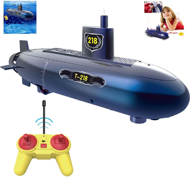calidad auténtica OMZBM Mini Mini Mini RC Submarino Juguete de Control Remoto,RC Speed Racing Barcos Modelo de lancha de Aventura al Aire Libre,Juguete de Bricolaje electrónico Sumergible Impermeable para educación, Azul  Vuelta de 10 dias