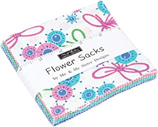 Flower Sacks Charm Pack by Me & My Sister Designs; 42-5 Inch Precut Fabric Quilt Squares