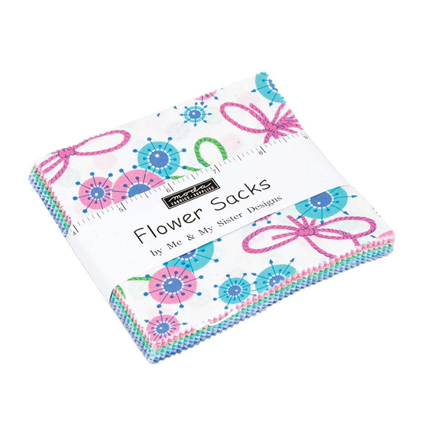 Flower Sacks Charm Pack by Me & My Sister Designs; 42-5 Inch Precut Fabric Quilt Squares xopaxsvpino234