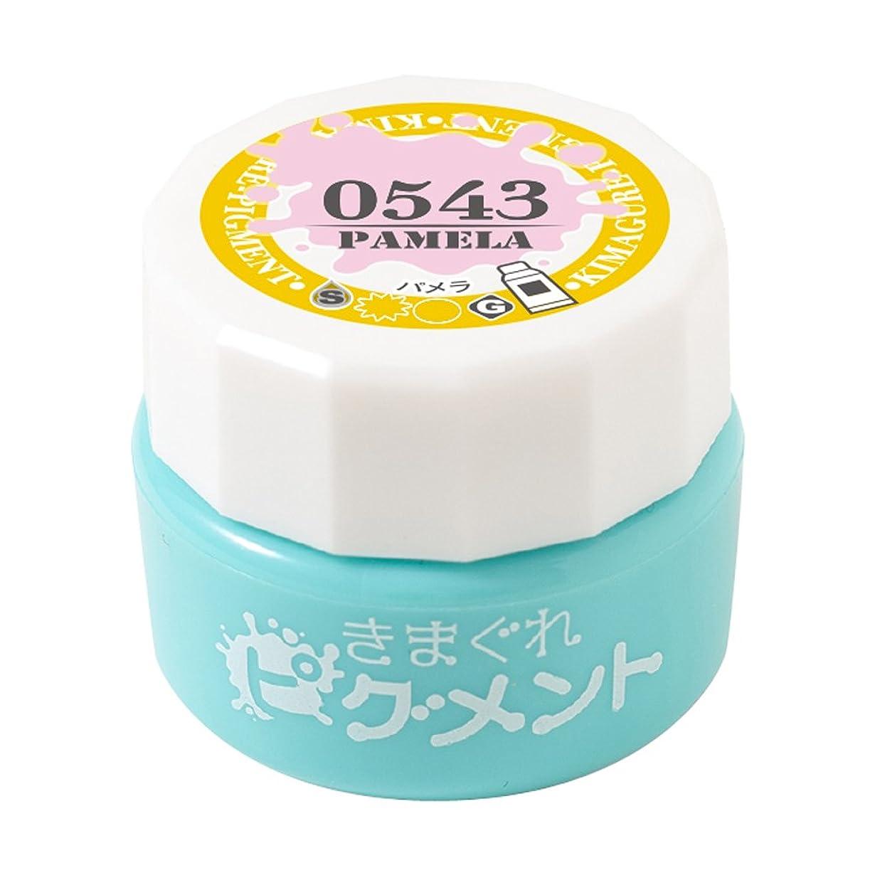 ランデブー顔料浴室Bettygel きまぐれピグメント パメラ QYJ-0543 4g UV/LED対応