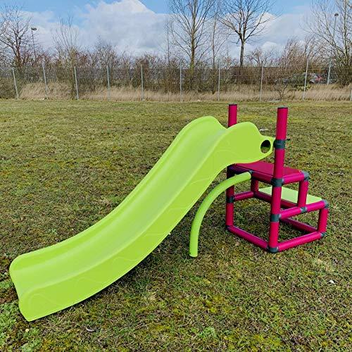 move and stic Toffi o Urmel Tobogán Infantil My First Mini Tobogán mi Primera Mini Tobogán Juguete Bebés Jardín Moveandstic - Magenta/Verde Manzana, XS