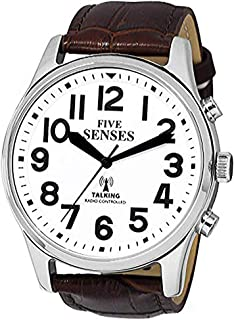 English Atomic Jumbo Size (43mm) Talking Watch with Loud Alarm Clock for Visually impaired, Elderly or Blind by 5 Senses :1524