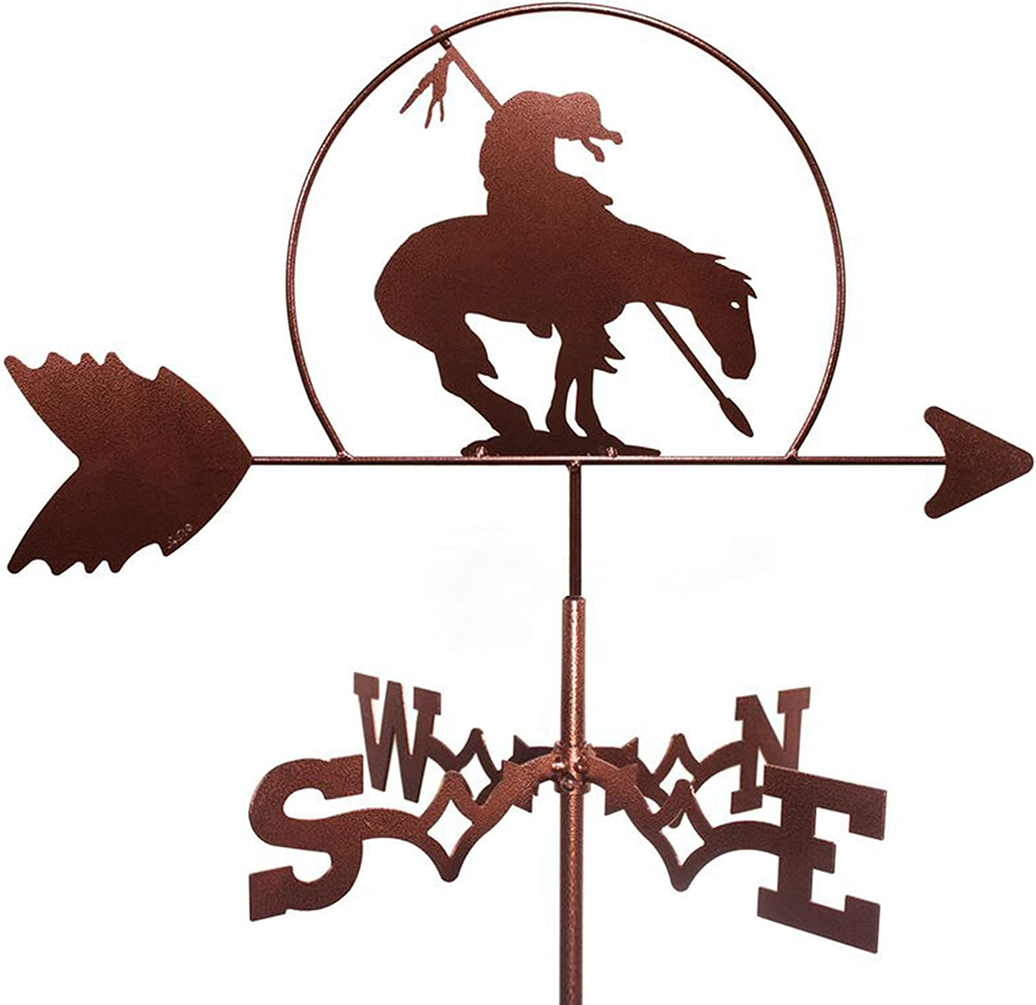 YDHNB Max 54% OFF Metal Limited time for free shipping Weathervane Animal Weather Mount with Vane Roof