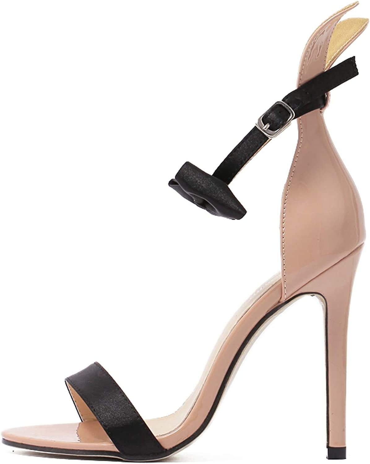 Elegant Women Sandals Ankle Strap Open Peep Toe High Heels Buckle Strap Fashion Sandals