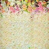 5x 7ft boda Floral pared arte tejido fotografía telón de fondo Flores personalizados fondo de fotografía de prop d-1789