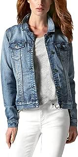 Buffalo Ladies' Knit Denim Jacket (XS, Blue)