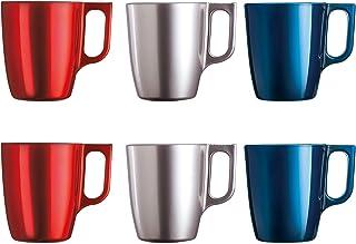 Luminarc Lot de tasses à café brillantes avec anse en verre pour micro-ondes 25cl