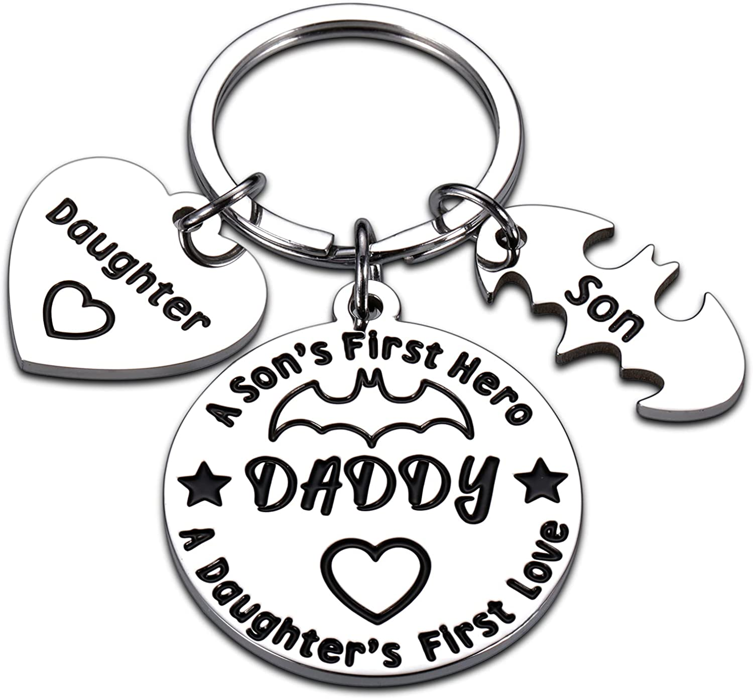 Funny Dad Keychain Gifts from Son Daughter to Daddy Step Dad Father's Day Birthday Thank You Gifts for Father in Law New Dad to Be Husband Godfather Papa from Kids Wife Wedding Gag Gifts for Men Him