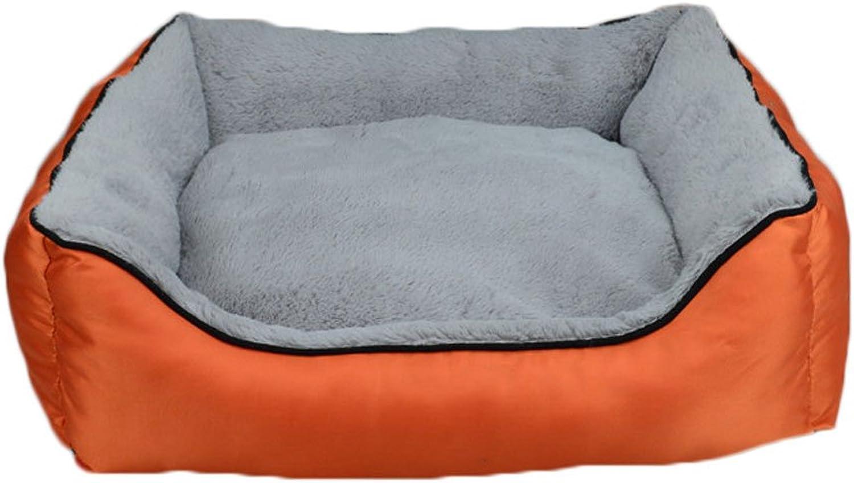 GHMM Pet bed Oxford panno kennel impermeabile non durevole multicolor opzionale Pet bed (Colore: ORANGE, Dimensione: L)