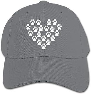 ADGoods Kids Children Dog Paw Heart Baseball Cap Adjustable Trucker Cap Sun Visor Hat For Boys Girls Gorra de béisbol para...