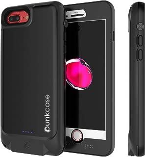 Punkjuice iPhone 7 Plus Battery Case Waterproof Slim Portable Power Juice Bank W/ 4800mAh High Capacity [Fastcharging] 120% Extra Battery Life Compatible W/Apple iPhone 8 Plus & 7 Plus [Jet Black]