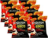 Popchips Ridges Tangy Barbeque Popped Chips, 0.8 Oz (Pack of 8)