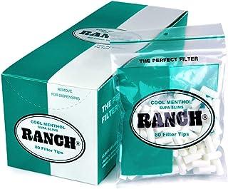 Ranch Filters Supa Slim Menthol Cigarette Filters, 130 grams