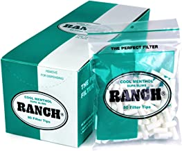 Ranch Filters Supa Slim Menthol Cigarette Filters, 130 grams