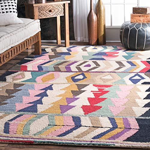 nuLOOM Ofelia Hand Tufted Wool Area Rug, 7' 6