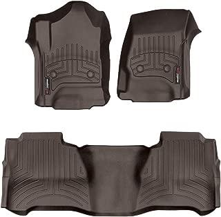 WeatherTech Custom Fit FloorLiner - 477221-475424 - 1st & 2nd Row (Cocoa)