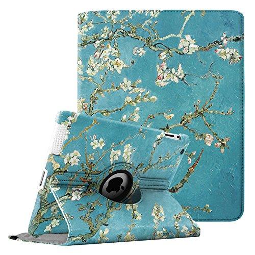 Fintie Hülle für iPad 2 / iPad 3/ iPad 4, 360 Grad verstellbare Schutzhülle Cover mit Standfunktion, Auto Sleep/Wake für iPad mit Retina Display (iPad 4. Generation), iPad 3 & iPad 2, Mandelblüten