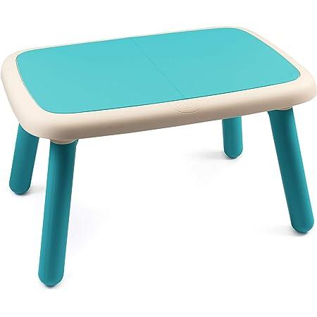 Smoby - Kid Table - Mobilier pour Enfant - Dès 18 Mois - Intérieur et Extérieur - Bleu - 880402