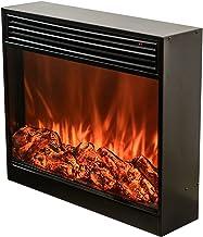 chimenea eléctrico RENJUN Realista 3-D Log y Efecto de Incendio con Pantalla táctil Remoto Pantalla de Control en Pared Calentador de Pared Negro 27.6x7x23.6in
