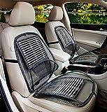 BMDHA Coprisedili Per Auto Estivi Antisudore Cuscino Per Auto Filo Di Acciaio Cuscino Per Massaggi Traspirante Confortevole Coprisedili Per Auto Anteriori Universali(2 Pezzi)