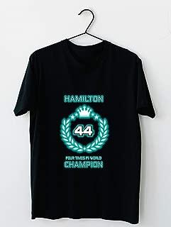 lewis hamilton 4 times world champion t shirt