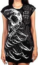 Babao Dames Punk Gothic Jurken Skull Print Jurk Ro...