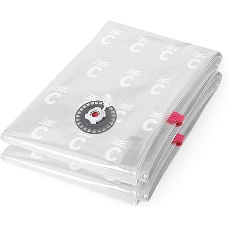 Compactor Lot de 2 Aspispace Sac de rangement sous vide, Transparent, L, 80 x 100 x H 0,2 cm, RAN4745