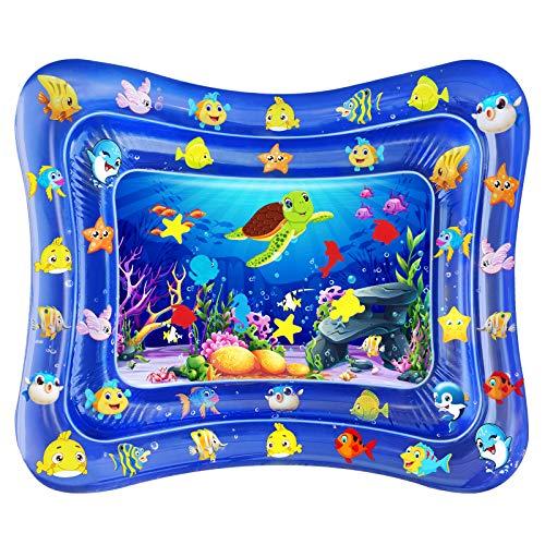 Dycsin Tappetino Gonfiabile per Neonati, Gonfiabili Per Bambini Giochi Per Neonati Bambini Centro per Giochie Bambino Gonfiabile Tappeti Giochi d'Acqua (100 * 80cm)