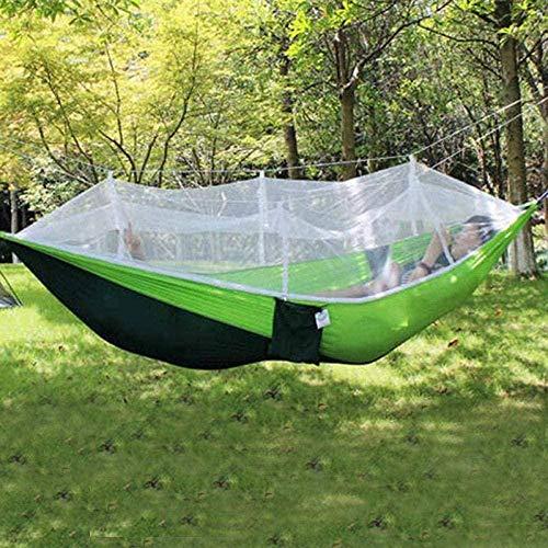 URPRU Amaca da Balcone Amaca Matrimoniale Outdoor Picnic Garden Hammock Mosquito Net Portable Outdoor Garden Travel Swing Parachute Hang Bed Amaca da Campeggio Furniture-2