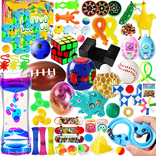 MGparty 72PCS Sensory Fidget Toys Set, Stress Anxiety Relief Assortment Toys for Kids Adults,Party...