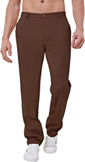 PAUL JONES Men's Straight Fit Chinos Pants Tapered Leg Casual Stretch Pants